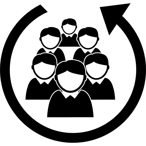 staff-people-group-in-a-circular-arrow